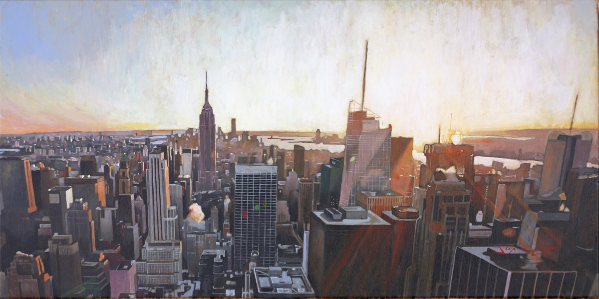 New York III by stephen collett -  sized 39x20 inches. Available from Whitewall Galleries